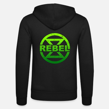 Rebellion Rebel hourglass climate protection environmental protection nature conservation - Unisex Zip Hoodie