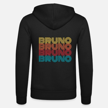 Name Bruno name name first name name day gift - Unisex Zip Hoodie