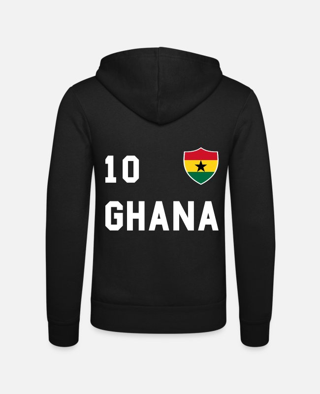 Travel Hoodies & Sweatshirts - Ghana flag, gift - Unisex Zip Hoodie black