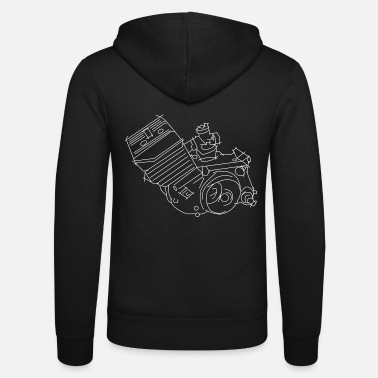 Simson Driver Simson S51 engine, moped, Simson driver - Unisex Zip Hoodie