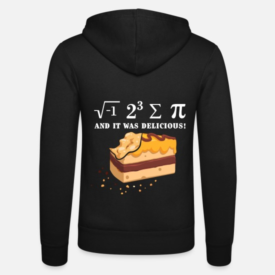 Gift Idea Hoodies & Sweatshirts - I 8 Sum Pi - I Ate Some Pie - Math Math Mat - Unisex Zip Hoodie black