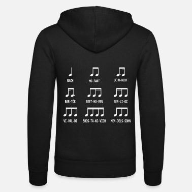 Music Music notes composer - Unisex Zip Hoodie