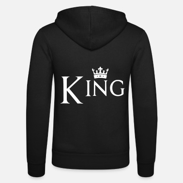King Couple design! King - Queen! - Unisex Zip Hoodie