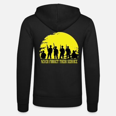 Navy Veterans Day Military Army Bundeswehr soldaat - Unisex hoodie van Bella + Canvas