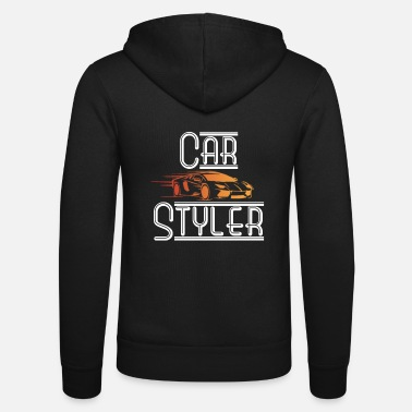 Sports Car Car styler with sports car - Unisex Hooded Jacket by Bella + Canvas