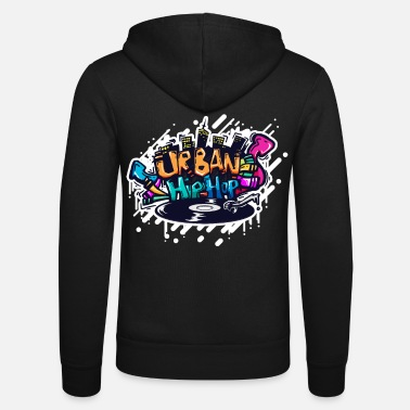 Turntable DJ TURNTABLE GRAFFITI - Unisex Zip Hoodie