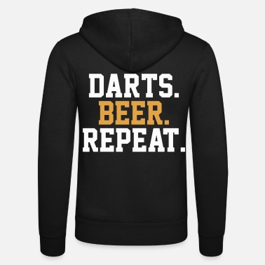 Bar Dart Beer Pub Bar - Unisex Zip Hoodie
