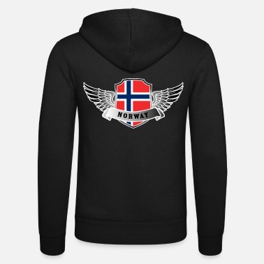 Patriot Norway Norway Norway Norway Flag Wings - Unisex hettejakke
