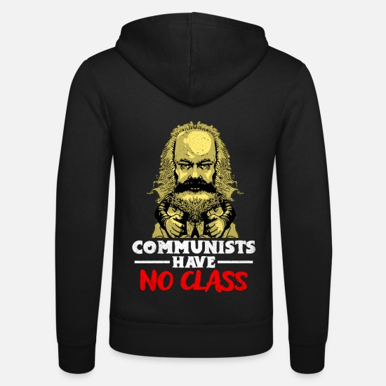 Communiste Sweat-shirts - communisme - Veste à capuche unisexe noir