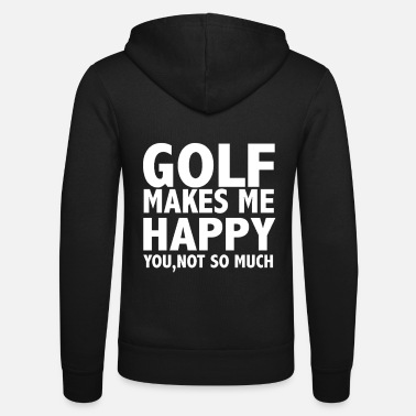 Instrut Golf Makes Me Happy - Unisex Zip Hoodie
