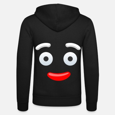 T-Shirt Funny Face Face Funny Costume - Felpa con zip unisex