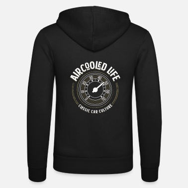 Air Aircooled Speedometer Gauge Classic Car Culture - Unisex Zip Hoodie