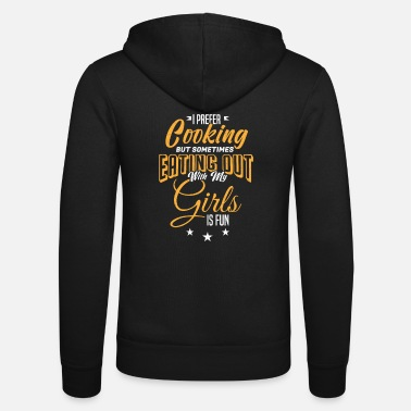 Witty Lesbian Naughty Funny Quote Loves Girls Gift - Unisex Zip Hoodie