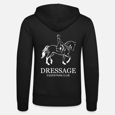 Dressage Dressage horse and rider design - Unisex Zip Hoodie