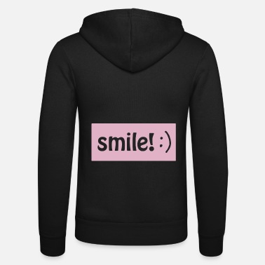 Smile :) - Unisex Hooded Jacket by Bella + Canvas