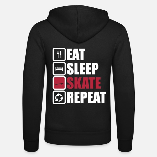 Sports Sudaderas - eat sleep skate repeat - Chaqueta con capucha unisex negro