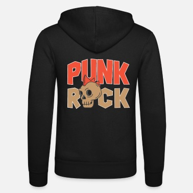 Punk Rock Punk rock - Unisex Hooded Jacket by Bella + Canvas
