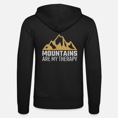 Mountains are therapy hiking climbing gift - Unisex Zip Hoodie