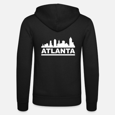 Atlanta skyline cityscape USA Georgia - Unisex Hooded Jacket by Bella + Canvas