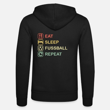 School Club Team EAT SLEEP FOOTBALL REPEAT | Club team team - Unisex Zip Hoodie