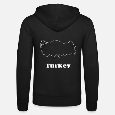 Map Turkey map map - Unisex Zip Hoodie