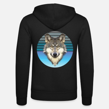 Wolfsburg Wolf retro polygon geometry gift idea - Unisex Zip Hoodie