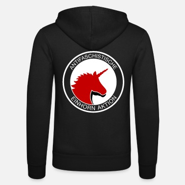 Anti Anti-fascist unicorn action - Unisex Zip Hoodie
