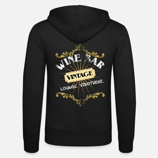 Bar Felpe - Wine Lounge Vinoteca Wine Bar - Felpa con zip unisex nero