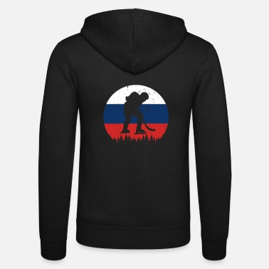 Coach Ice Hockey Russia RUS Winter Sports Nation Flag - Unisex Zip Hoodie