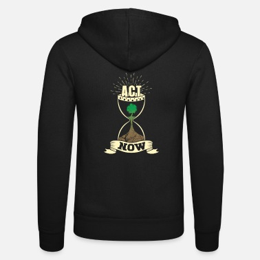 Rebellion Act Now! Against environmental destruction and climate change. - Unisex Zip Hoodie