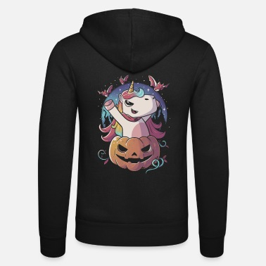 Sparkle Spooky Unicorn Funny Cute Magic Halloween - Unisex Zip Hoodie