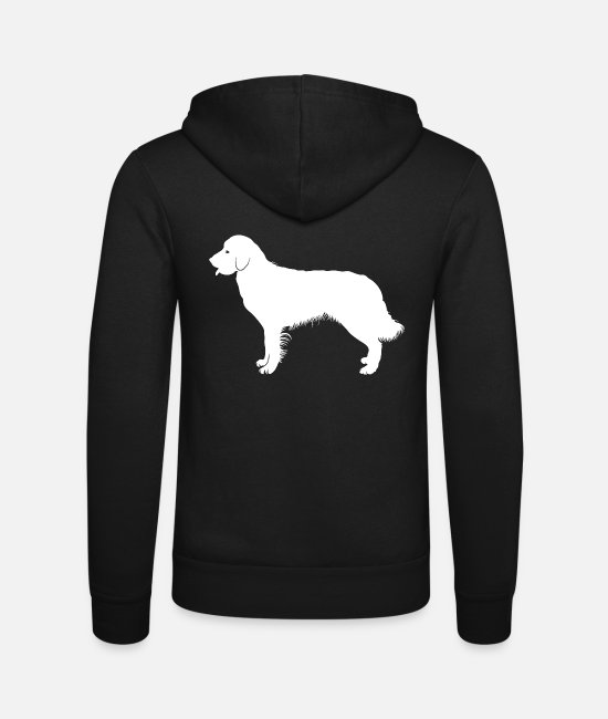 Owner Hoodies & Sweatshirts - Golden retriever - Unisex Zip Hoodie black