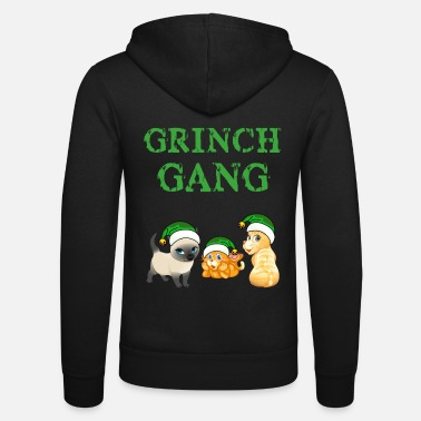 Christmas Grinch cat gear Christmas - Unisex Zip Hoodie