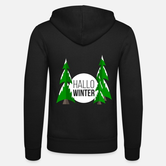 Winter Hoodies & Sweatshirts - winter - Unisex Zip Hoodie black