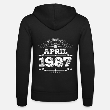 Established Established in April 1987 - Unisex zip hoodie