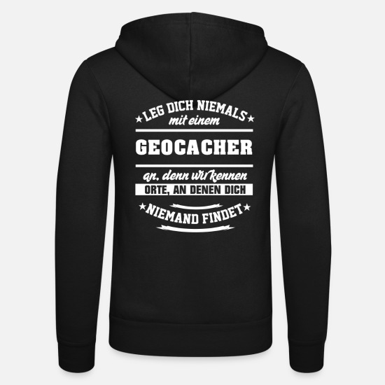 Cache Sweat-shirts - Vêtements Geocacher - Veste à capuche unisexe noir