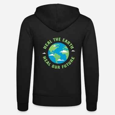 Healing Heal the earth heal our future - Unisex Zip Hoodie