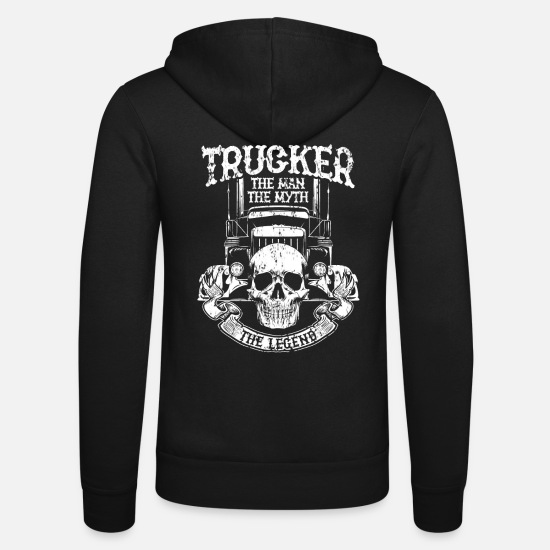Trucker Hoodies & Sweatshirts - Trucker - Unisex Zip Hoodie black