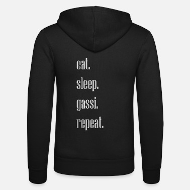 eat sleep gassi repeat - Unisex Kapuzenjacke