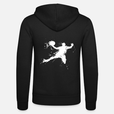 Slam Dunk Slam dunking basketball player - Unisex Hooded Jacket by Bella + Canvas