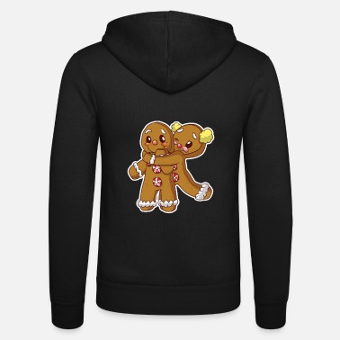 Officialbrands Gingerbread Christmas Blushing Cookie Couple - Unisex zip hoodie