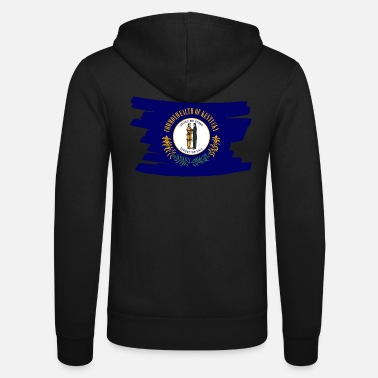 Us Kentucky USA - Flag - brush horizontal - Unisex Kapuzenjacke