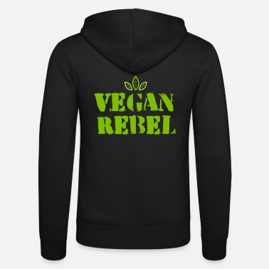 Animal Vegan Rebel - Animal rights activist, vegetarian, gift - Unisex Zip Hoodie