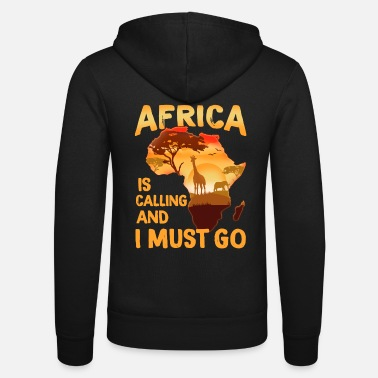 Avventura Safari Africa T-Shirt Wildlife Animals Travel Hunting - Felpa con zip unisex