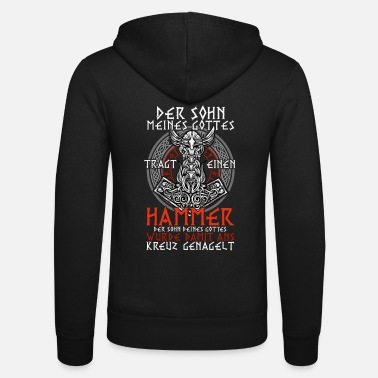 Pagan Pride Vikings Hammer T-Shirt Faith God Odin Pride - Unisex Zip Hoodie