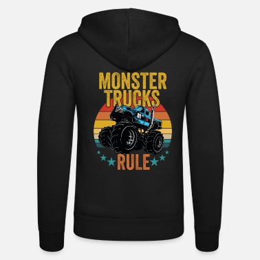 Monster Truck Monster Trucks - Monster Trucks Rule - Unisex Zip Hoodie