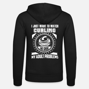 Curling I Just Want To Watch Curling - Unisex Zip Hoodie
