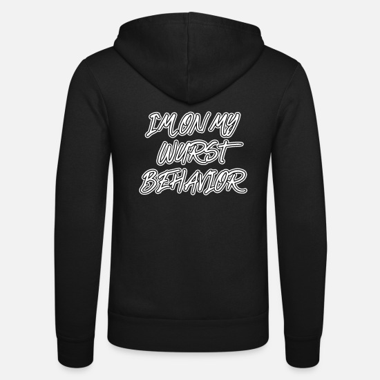 Guys Night Out Hoodies & Sweatshirts - Sausage Behavior I'm sausage - Unisex Zip Hoodie black