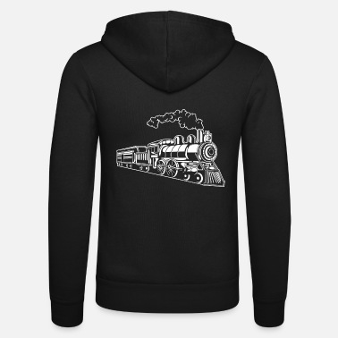 Steam Engine Locomotive / Locomotive 02_white - Unisex Zip Hoodie
