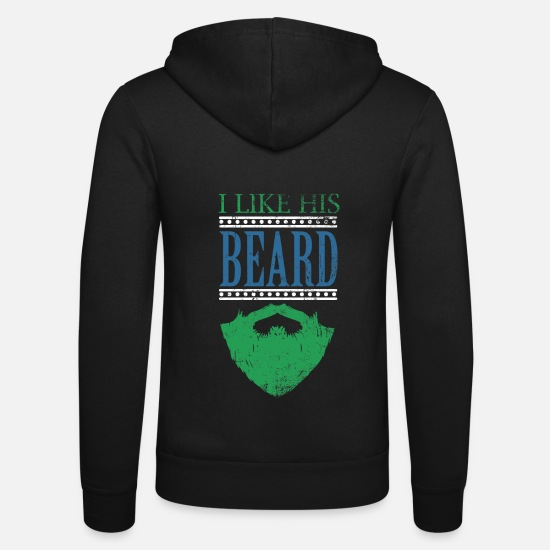Girlfriend Hoodies & Sweatshirts - Funny girlfriend beard gift macho hipster - Unisex Zip Hoodie black